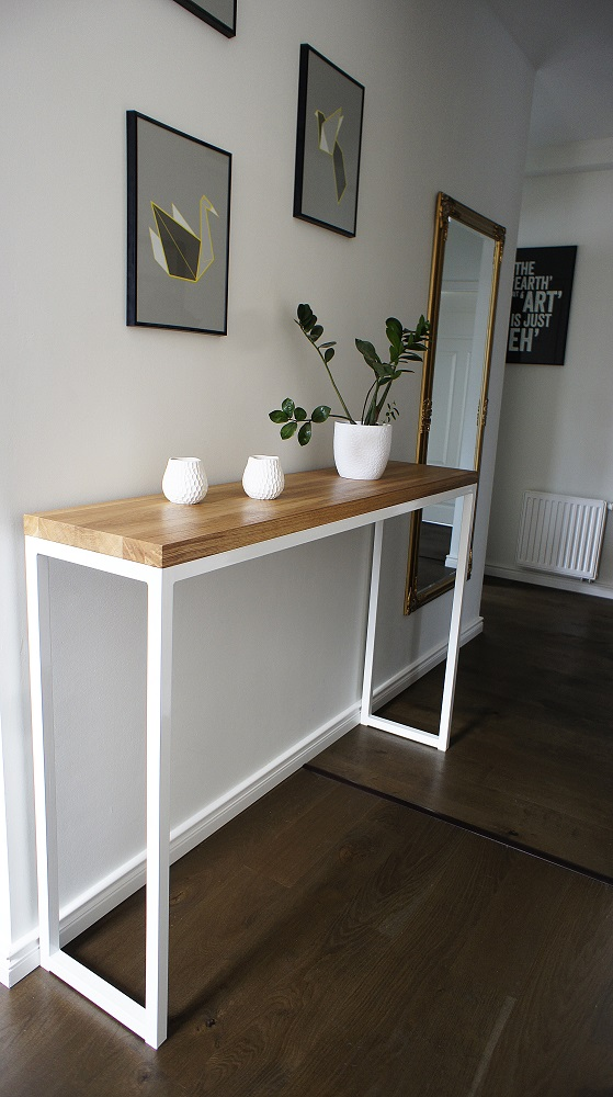 konsola komoda �industrial white oak� � projekt drewno